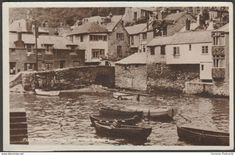Polperro showing the House on the Props, Cornwall, 1948 - Colling Turner RP Postcard