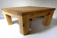oak coffee table - Nice and chunky