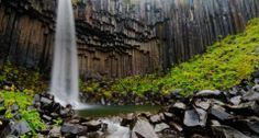 Bing Image Archive: Svartifoss waterfall flanked by hexagonal basalt columns in Vatnajökull National Park, Iceland (© Martin Moos/Lonely Planet Images)(Bing United Kingdom)
