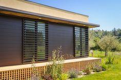 Modern Design: A Prefab in Healdsburg, CA by CleverHomes Window Film, Modular Homes, Prefab, Bay Area, Tiny House, Beautiful Homes, Blinds, Modern Design, New Homes