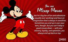 I took Zimbio's classic Disney quiz and I'm Mickey Mouse! Who are you? #ZimbioQuiz