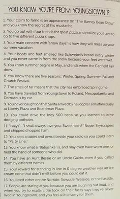 Read this and see if you pass the test Youngstown State, Poland, Fun Stuff, Travel Tips, Cities, Nostalgia, Cook, Memories, History