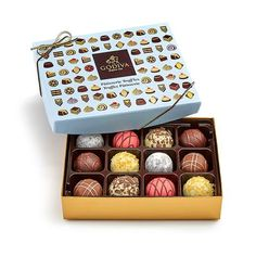 Imported from America and not available in the UK!  Godiva Luxury Patisserie Truffles - box of 12.