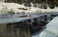 Winter at Simoa - Frits Thaulow 1883