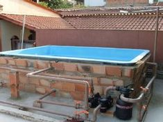 - Home Decor Ideas Building A Swimming Pool, Small Swimming Pools, Small Pools, Swimming Pools Backyard, Garden Pool, Overflow Pool, Shipping Container Pool, Piscine Diy, Earth Bag Homes