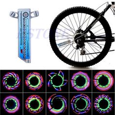 16 LED Cool Car Motorcycle Bicycle Light Cycling Bike Bicycle Tire Wheel Valve Flashing Spoke Light Battery Powered JUN08 #Affiliate