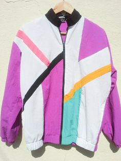 *SOLD* Vintage Windbreaker ColorBlocked Nylon Track by GarageEccentrica, $22.90 www.garageeccentrica.etsy.com