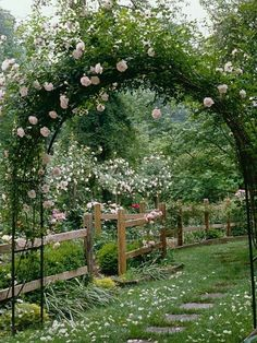 Garden Arch with roses give you an invited feeling ( My Secret Garden )