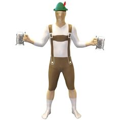 Want to be anonymous for Halloween? This faceless dude in lederhosen is creepy enough to scare trick-or-treaters.