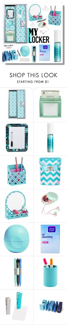 """""""Decorate Your Locker"""" by jessinerio4l ❤ liked on Polyvore featuring interior, interiors, interior design, home, home decor, interior decorating, CLEAN, Eos, Clean & Clear and Vera Bradley"""