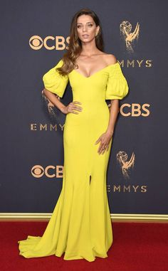 Angela Sarafyan from 2017 Emmys Red Carpet Arrivals