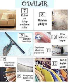 Evinizi Adım Adım Bal Dök Yala Kıvamına Getirecek İpuçları Day Plan, Minimalism, Organization, Cleaning, How To Plan, Beautiful, Home Decor, Infographic, Organisation
