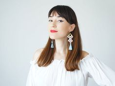 Tassel Earrings Spring Accessory Summer Trends #jewelry #earrings @EtsyMktgTool http://etsy.me/2aTkl3W