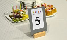 Wooden table number holders - a beautiful and practical table decor. Made by Klik Klak Blocks  More: https://www.etsy.com/listing/219680900/10-wood-table-number-holders-for-wedding?ref=shop_home_active_3