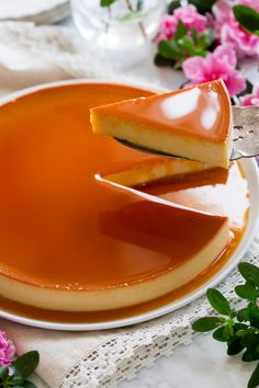 Homemade Flan Recipe, Best Flan Recipe, Baked Leche Flan Recipe, Fruit Flan Recipe, Cuban Flan Recipe, Authentic Mexican Desserts, Mexican Food Recipes, Sweet Recipes, Easy No Bake Desserts