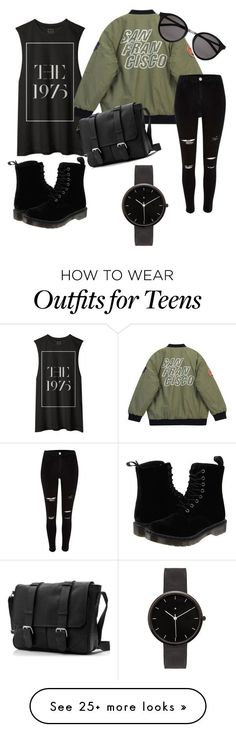 """""""Dope"""" by blaiseoutfits on Polyvore featuring Chicnova Fashion, Dr. Martens, Yves Saint Laurent, I Love Ugly, women's clothing, women, female, woman, misses and juniors"""