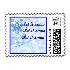 Let it Snow Postage