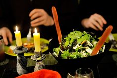 An Arugula, Mint, Apple and Seagreens Salad was one of the courses served at Food Editor Peggy Grodinsky's dinner featuring all things seaweed. Recipe by Barton Seaver from Superfood Seagreens