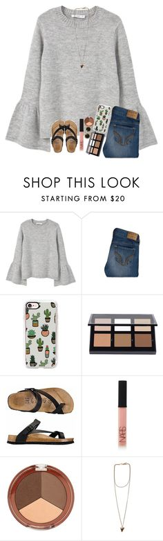 """""""Happy Saturday!"""" by classyandsassyabby ❤ liked on Polyvore featuring MANGO, Hollister Co., Casetify, Anastasia Beverly Hills, NARS Cosmetics, Kendra Scott, Mineral Fusion, Givenchy, Sweater and birkenstock"""