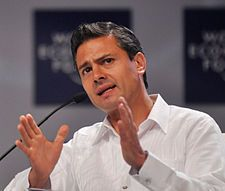 Peña Nieto: Mexico's new President and his plans for a global Mexico. Peña Nieto is the newly elected President of Mexico, and these five quick facts will give you a better idea of what this could mean for business globally, and especially in America. Memes Trump, Presidential Polls, World Economic Forum, New President, Head Of State, Event Calendar, Constitution, Current Events, Renovation