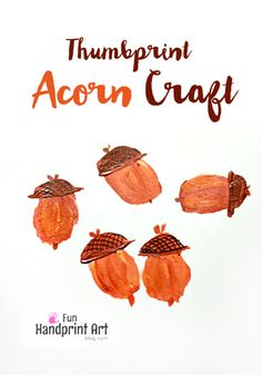 How to make thumbprint acorn - Not all acorn crafts cost a lot of money to pull off. We have a super Fun Thumbprint Acorn Craft that kids will love to make and family will love to keep.