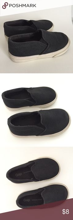 ✨Gap slip on black toddler shoes | size 7 Used but good condition. My daughter only worn them twice. Super cute on. Toddler size 7. Smoke and pet free home. GAP Shoes Baby & Walker