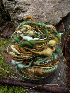 Handspun yarn, handpainted art yarn