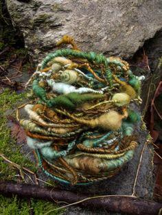 Handspun yarn, handpainted art yarn