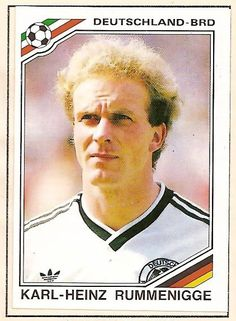 WM 1986 - Karl-Heinz Rummenigge - Panini Sticker by Thomas Duchnicki, via Flickr