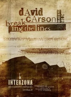 David Carson breaking the lines, 1994
