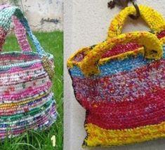 Comment recycler et crocheter des sacs plastiques...voir modèles créations en récup poches plastique