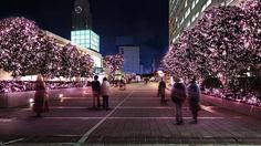 As is customary, the Shinjuku Terrace illumination takes place around the Southern Terrace and the Odakyu Group-controlled area that reaches toward the West Exi