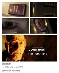 SPOILERS. This has to be who he saw, and if Moffat was planning this all along... Wow.