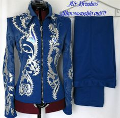 Showmanship Outfit- never seen anything like this! Rodeo Outfits, Equestrian Outfits, Equestrian Style, Western Outfits, Western Wear, Western Show Shirts, Western Show Clothes, Horse Show Clothes, Rodeo Clothes