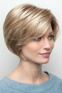 Nala by Amore / Rene of Paris Wigs - Hand Tied, Monofilament, Lace Front Wig Modern Bob Hairstyles, Stacked Bob Hairstyles, Medium Bob Hairstyles, Hairstyles Haircuts, Short Hair With Layers, Short Hair Cuts For Women, Short Hair Styles, Layered Bob Short, Layered Bobs