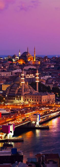 Istanbul at Sunset, Turkey. For luxury hotels in Istanbul visit http://www.mediteranique.com/hotels-turkey/istanbul/
