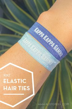 Sorority hair ties are the easiest gift for any celebration: Recruitment, Bid Day, Back to School & Big/Little. Spoil your new sorority girl with a hair tie set! Kappa Kappa Gamma Gifts | Kappa Kappa Gamma Bid Day | KKG Hair Ties | Kappa Kappa Gamma New Pledge Gift | Sorority Bid Day | Sorority Recruitment | Sorority Hair Tie Gifts | Sorority College Gift | Sorority New Member Gift Ideas #SororityGifts #SororityHairTies Sorority Bid Day, College Sorority, Kappa Kappa Gamma, Alpha Sigma Alpha, Sorority Recruitment, Sorority Gifts, Hair Tie Bracelet, Let Your Hair Down, Elastic Hair Ties