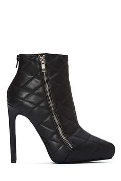Jeffrey Campbell Gridley Quilted Leather Boot | Shop Heels at Nasty Gal