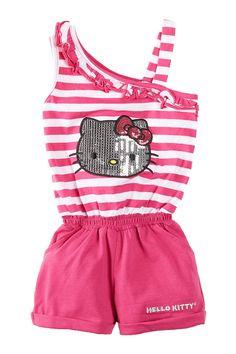 Hello Kitty Striped Jumper (Little Girls) by Hello Kitty on @nordstrom_rack