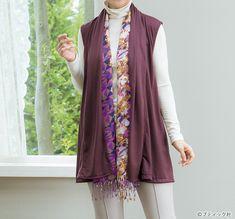 60代&70代におすすめ!おしゃれな秋の手作り大人服の作り方7選 | ぬくもり Floral Tie, Sewing Patterns, Sewing Ideas, Kimono Top, Fabric, Sweaters, Tops, Women, Style