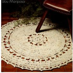 Crochet RUG Pattern Vintage 70s Round Rug Mat Scatter Area Rug Crochet Floor Rug Crochet Mat Boho Bohemian Home Decor by Liloumariposa on Etsy https://www.etsy.com/listing/228112609/crochet-rug-pattern-vintage-70s-round