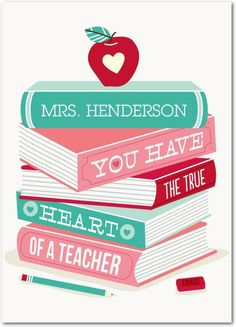 Heart of a Teacher - Valentine's Day Cards in Bay | Magnolia Press