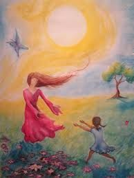 mum and daughter reading art - Google Search