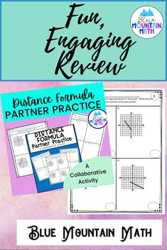 Looking for a collaborative activity that gets kids working together using the distance formula, talking about math and helping each other learn? Partner Practice is that activity. This resource has 3 different pairs of collaborative worksheets for students. Pairs of students complete worksheets of different problems that have the same answer. So students each do problem 1 and compare answers to see if they match.