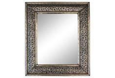 Silver Mirror w/  Engraving