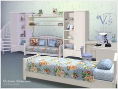 "sssvitlans: "" Created By Severinka Victoria Kidsroom Created for: The Sims 4 Sets of furniture and decor to design a child's room in a romantic style with elements of Shabby. 2 of furniture case..."