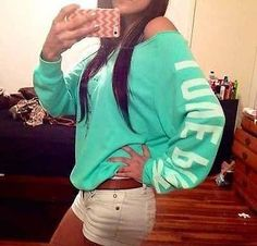 Victorias secret mint sweater is just as comfortable as it looks Pink Outfits, Casual Outfits, Cute Outfits, Fashion Outfits, Victoria Secret Outfits, Victoria Secret Pink, Victoria Secrets, Bad Girl Look, Fall Winter Outfits