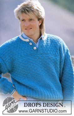 "DROPS jumper in textured pattern in ""Alaska"". Ladies and men's sizes S – L. ~ DROPS Design"