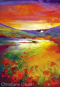 Rolling Hills by Christiane David Oil ~ x