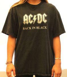 "Vintage ACDC ""Back In Black"" Tee Large"